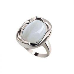 pierścionek srebrny kocie oko