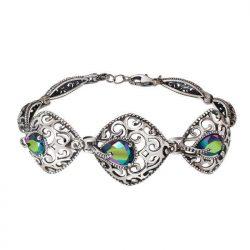 Bransoletka srebrna z kryształami Swarovskiego R 2075 Scarabaeus