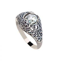 Srebrny pierścionek z cyrkoniami PK 2084