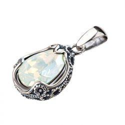 Wisiorek srebrny z kryształem Swarovski W 2084