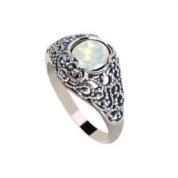 Srebrny pierścionek z kryształem Swarovski PK 2084