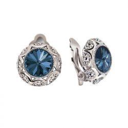 Rodowane klipsy z kryształami Swarovski KL 1894