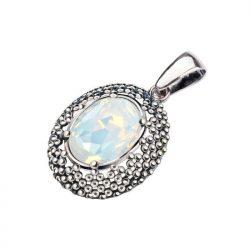 Srebrny wisiorek z kryształem Swarovski W 2093