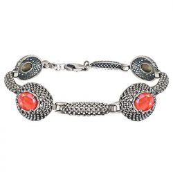 Srebrna bransoletka z kryształami Swarovskiego L 2093