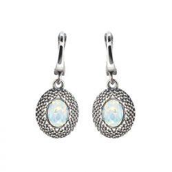 Srebrne kolczyki z kryształami Swarovski K2 2093