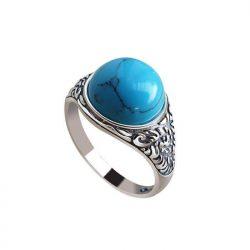 Srebrny pierścionek z turkusem pk 2080