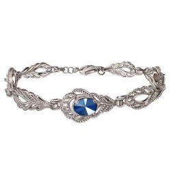 Bransoletka z rodowanego srebra zdobiona kryształem Swarovski L 2086