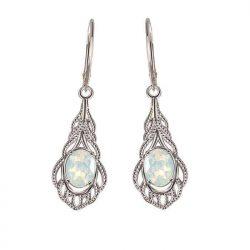 Rodowane srebrne kolczyki z kryształami Swarovski K 2086