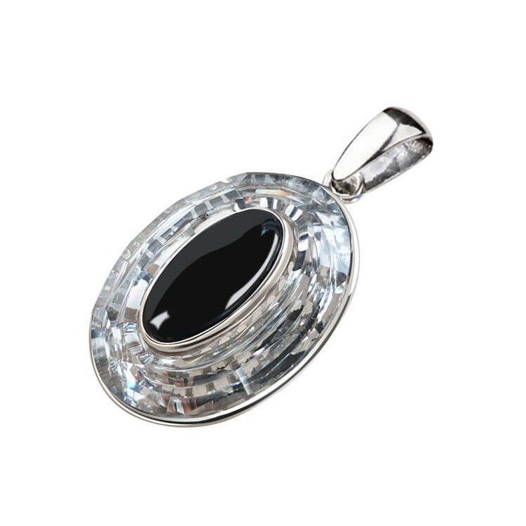 Srebrny wisiorek z Kryształem Swarovskiego W 1706