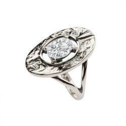 Pierścionek srebrny z cyrkonią pk 1630