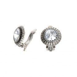 Klipsy srebrne z kryształem Swarovski Crystal bezbarwny