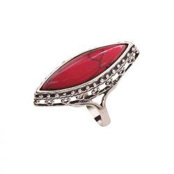 Srebrny pierścionek z koralem pk 1545