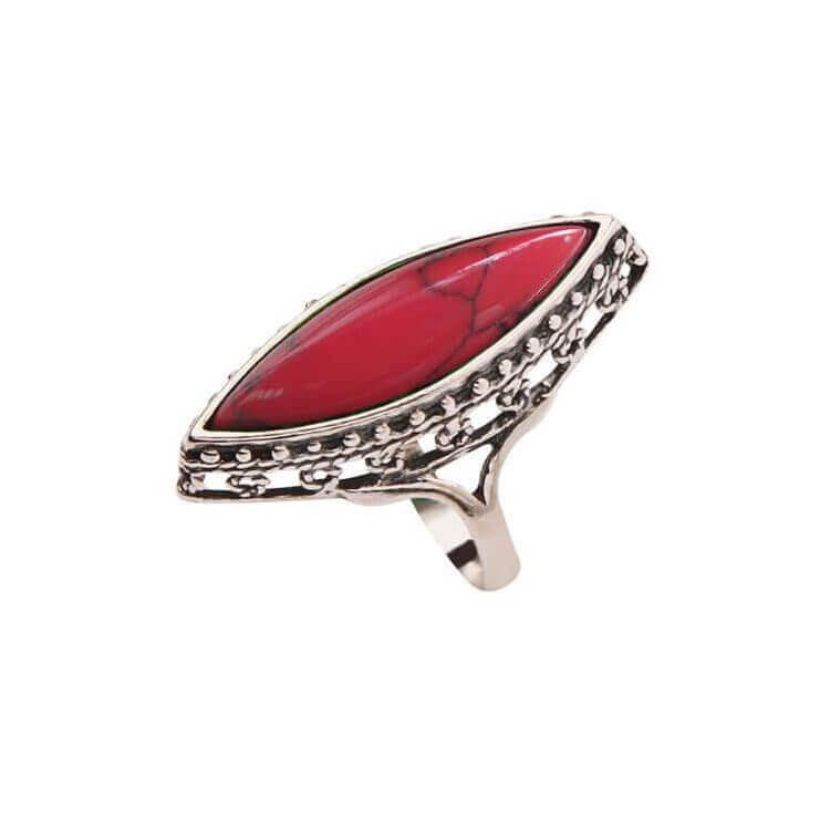 Srebrny pierścionek z Koralem PK 1545 Koral