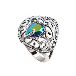 Pierścionek srebrny swarovski crystal  pk 2075