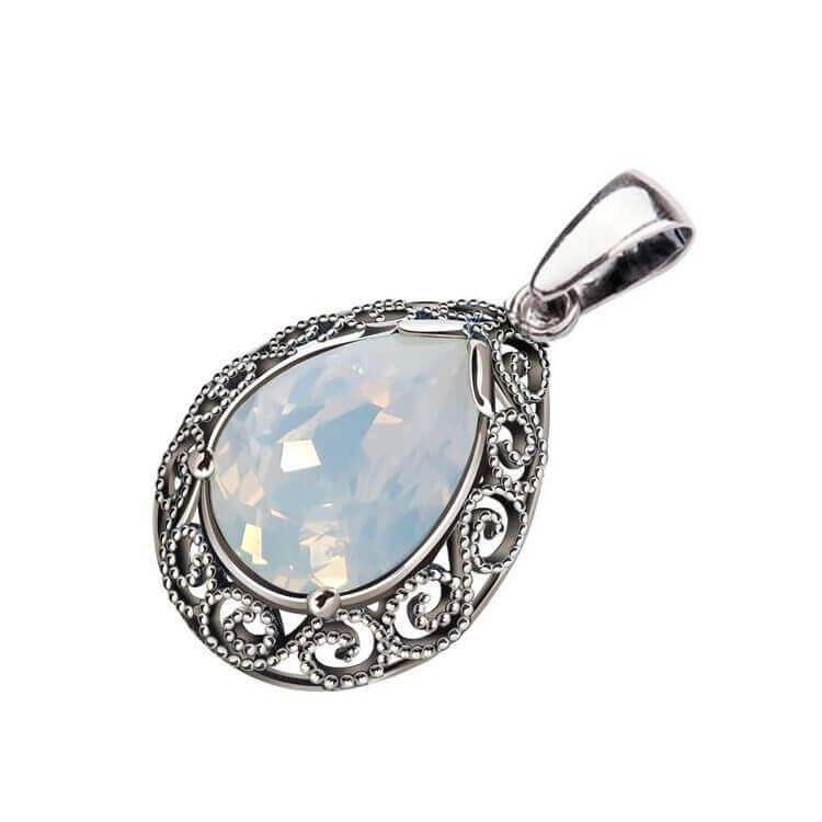 Wisiorek srebrny z kryształem Swarovski W 2087