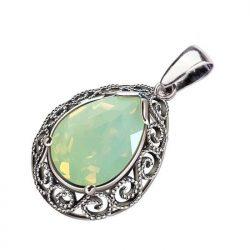 Chrysolite opal crystal wisiorek srebrny w 2087