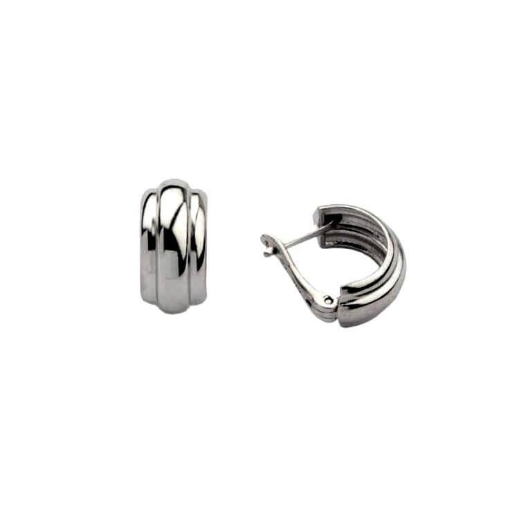 Rodowane srebrne kolczyki K3 1183