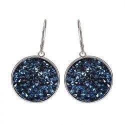 Kolczyki srebrne Swarovski Rocks Moonlight Black Crystal