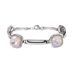 Srebrna rodowana bransoletka z kryształami Swarovski L 2092