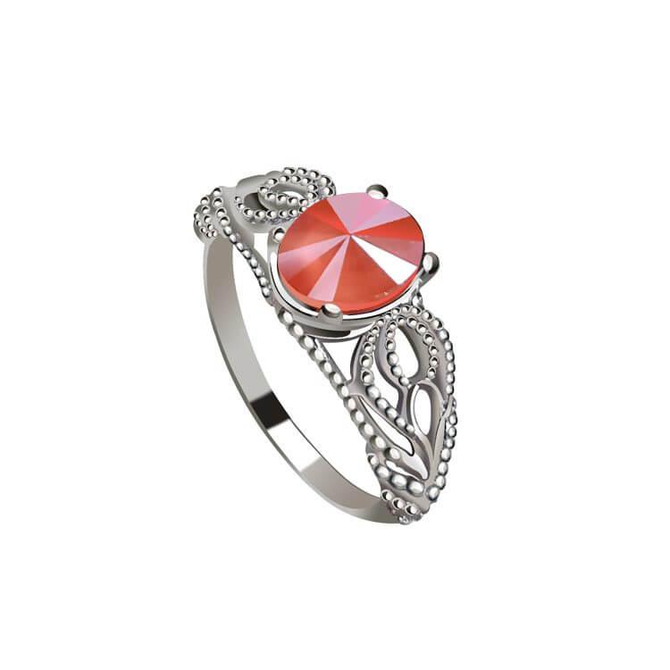 Srebrny pierścionek z kryształem Swarovski PK 2086