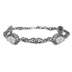 Bransoletka srebrna z kryształami Swarovski L 2087