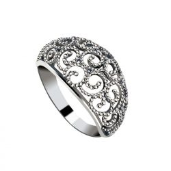 Srebrny pierścionek oksydowany pk 2083