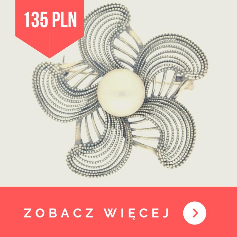 broszka z perłami