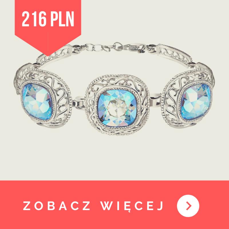 Bransoletka srebrna Swarovski Shimmer Sapphire 1893