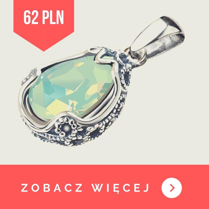 Wisiorek srebrny chrysolite opal swarovski