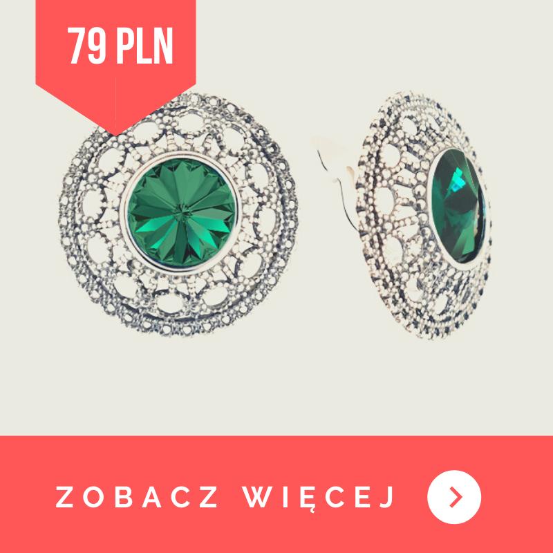 kolczyki srebrne emerald
